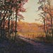 Autumn Sunlite Pastel Painting by Julie Smith of Ojai