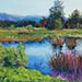 lake view landscape painting
