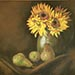 still life sunflowers in a vase